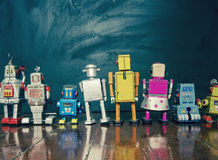 Robot line Stock Images