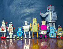 Robot line Royalty Free Stock Photos