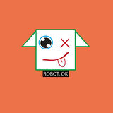 Robot logo Stock Photos