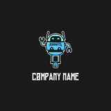 Robot logo template vector Royalty Free Stock Photo