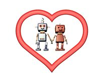 Robot love Stock Image