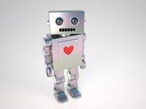 Robot in Love Stock Image