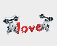 Robot with love Royalty Free Stock Photography
