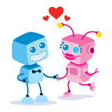 Robot Love Couple Royalty Free Stock Photos