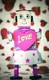 Robot love Stock Image