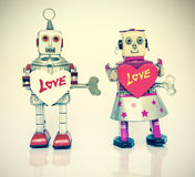 Robot love Royalty Free Stock Photo