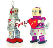 Robot love Stock Images