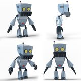 Robot LowPoly Immagine Stock