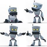 Robot LowPoly Fotografia Stock Libera da Diritti