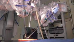 Robot médico da Vinci Cirugía robótica Robot como mínimo invasor almacen de metraje de vídeo