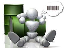 Robot mówi w binary. ilustracja wektor