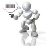 Robot mówi w binary. royalty ilustracja