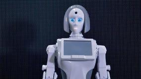 Robot macha przyciągać zaludnia uwagę zdjęcie wideo