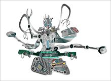 Free Robot Machine Created By Man For The Death Of Mankind Stock Image - 216692011