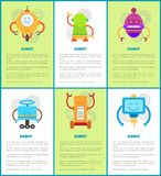 Robot Machines Collection, Vector Illustrations Stock Image