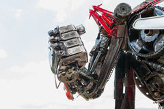 Robot made from Mechanical ratchets Stock Photography