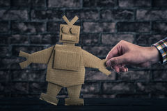 Robot made of paper royalty free stock image