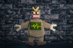 Robot made of paper royalty free stock photography