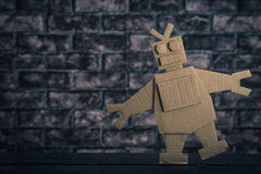 Robot made of paper stock image