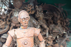 Robot made by scrap iron Royalty Free Stock Photos