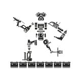 The robot is made up of various electric tools Royalty Free Stock Image