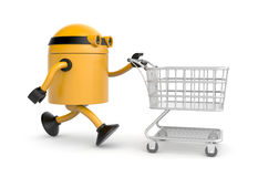 The robot makes purchases Stock Photography