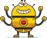 Robot malvado del oro Fotografía de archivo libre de regalías