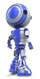 Robot man. A three-dimensional illustration of a blue and gray robot man isolated on a white background Royalty Free Stock Photos