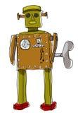 Robot man art line painting Stock Photos