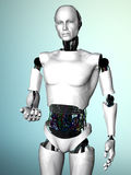 Robot man inviting you. Royalty Free Stock Images