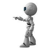 Robot man pointing Stock Photos
