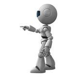 Robot Man Pointing Stock Photos