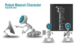 Robot Mascot Character royalty free illustration