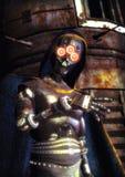 Robot mauvais Image stock