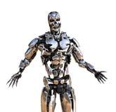 Robot med armspridning Fotografering för Bildbyråer