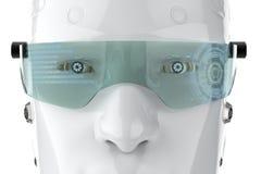 Robot med glasögon vektor illustrationer