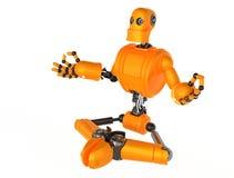 Robot meditating Stock Image