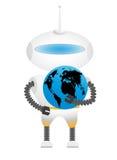 Robot met Aarde Royalty-vrije Stock Fotografie