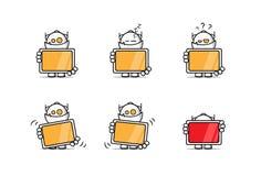 Robot met het scherm Stock Afbeelding