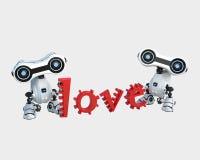 Robot met liefde Royalty-vrije Stock Fotografie