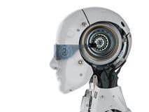 Robot met oogglazen stock fotografie