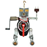 Robot from metal parts Stock Image