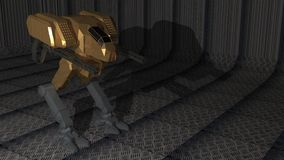 Robot in metallic cage. A fighter robot in a metallic cage Stock Images