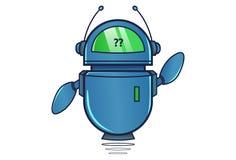 Robot mignon montrant le point d'interrogation illustration de vecteur