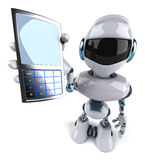 Robot with a mobile phone Royalty Free Stock Photos