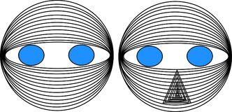 Robot model. Illustration for health care ,business,toy factory, hospital or doctor`s home.Adult eye logo for lens manufacturer. child in robot,hacker-robot Royalty Free Stock Image