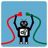 Robot moderne avec la fiche de câble Photos stock