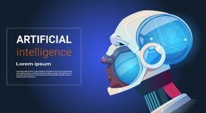 Robot moderne Brain Technology d'intelligence artificielle Images stock