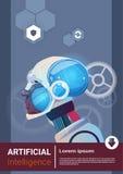 Robot moderne Brain Technology d'intelligence artificielle Photo libre de droits