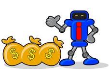 Robot and money Stock Photos